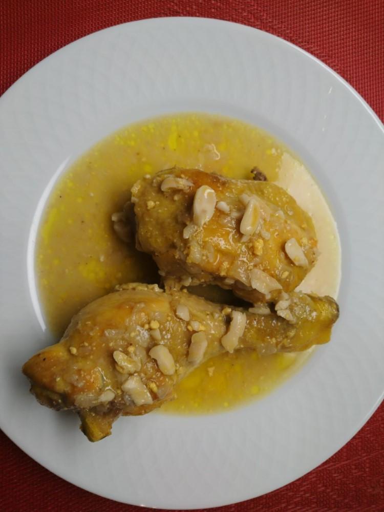 Receta de Pollo con almendras